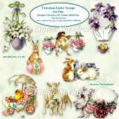 Victorian Easter Scraps Set One For Cardmaking Scrapbooking PNG