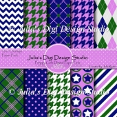 Preppy Girls Digital Paper Pack
