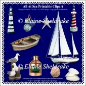 All At Sea - Printable Clipart - Set One - Designers Resource Ki