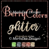 Berry Colors 1 Glitter Photoshop Styles by MarloDee Designs