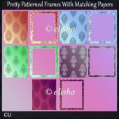 Pretty patterned frames with matching papers