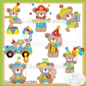 Beary Silly Clowns Clip Art