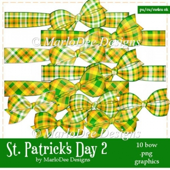 St. Patrick's Day Colors 2 - Plaid Bow Graphics 2