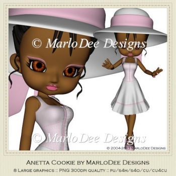 Anetta Cookie Poser Graphics by MarloDee Designs