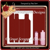 Tall Gift Box Template PNG & PDF