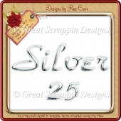 Silvery Alpha and Numbers PNG CU OK