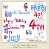 July 4th Word Art Package 3 by MarloDee Designs
