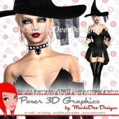Witch Halloween Design 1 Poser Graphics