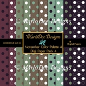 November Color Palette 4 A4 size Digital Papers Pkg 4