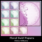 Floral Swirl Papers