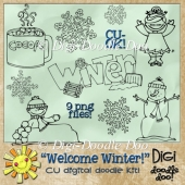 Welcome Winter! - Winter themed - CU doodles