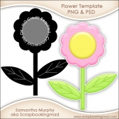Layered Flower Template PNG & PSD - CU OK