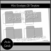 Mini Envelopes CU Template