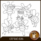 CU Vol. 026 Doodles Bees by Lemur Designs