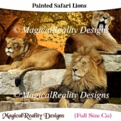 Painted Safari Lions
