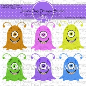 Monster Mash Digital Clipart Set