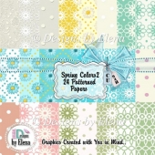 Spring Color Patterned Papers 02