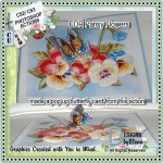 Pansy and Butterfly Pop Up Card