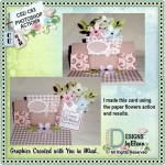 Happy Birthday Flower Pocket Easel Card