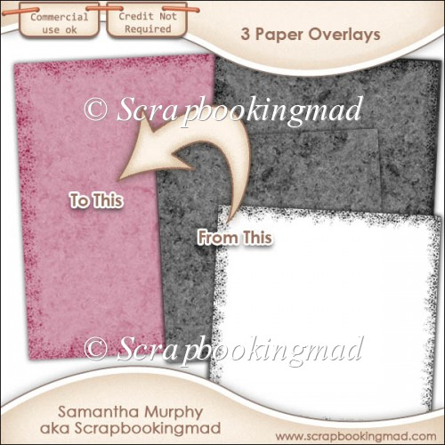 3 Paper Overlays - PNG FILES - CU OK