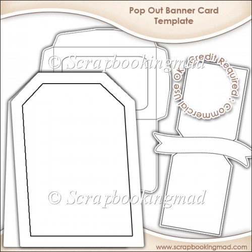 Pop Out Banner Card & Envelope Template CU OK