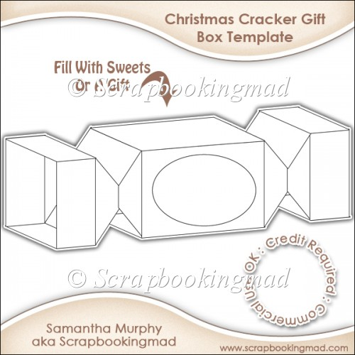 Christmas Er Gift Box Template Cu Ok 3 50 Commercial Use Ss