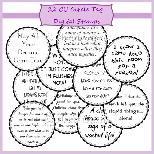 CU Circle Tags Digital Stamps