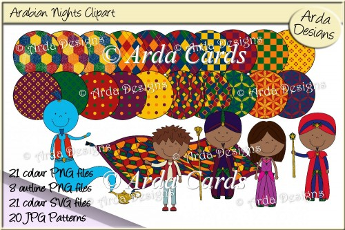 Arabian Nights Clipart & Patterns - Click Image to Close