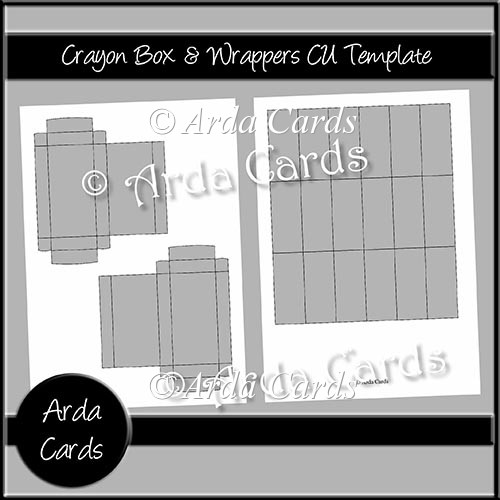 Crayon Box & Wrappers CU Template - Click Image to Close