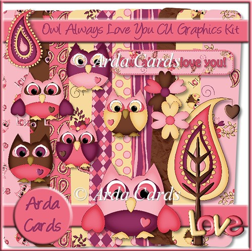 Owl Always Love You! CU Graphics Kit