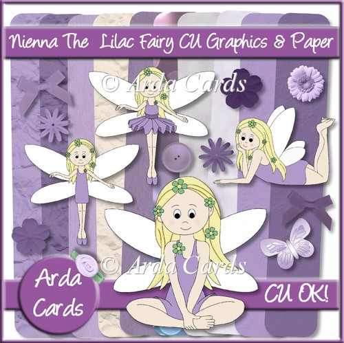 Nienna The Lilac Fairy CU Graphics And Paper