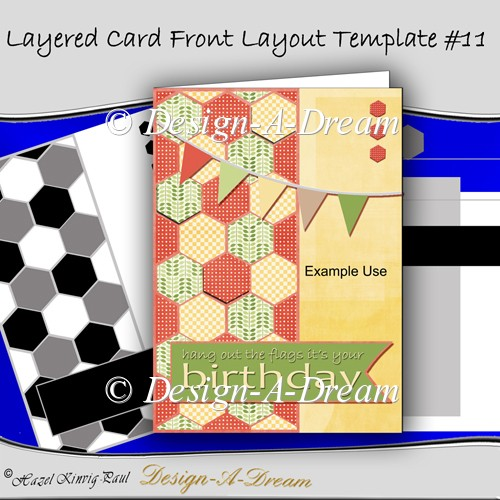 Layered Card Front Layout Template #11