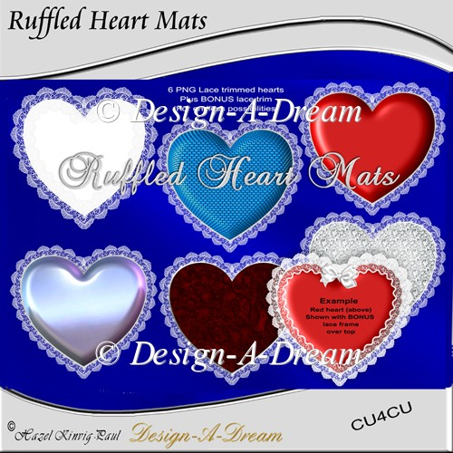 Ruffled Heart Mats