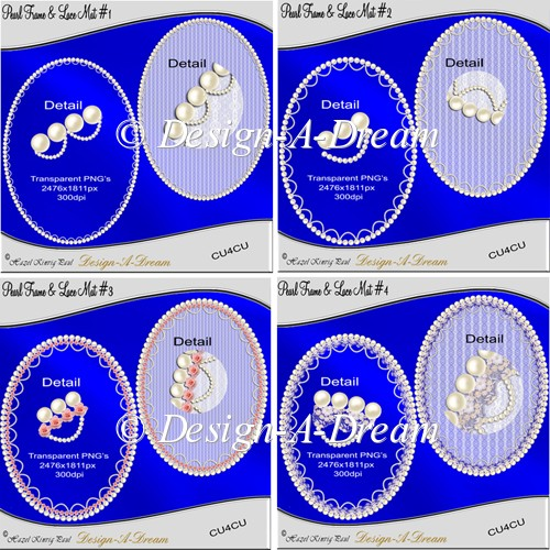 Pearl Frame & Lace Mat Bumper Pack