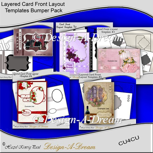 Layered Card Front Layout Templates Bumper Pack