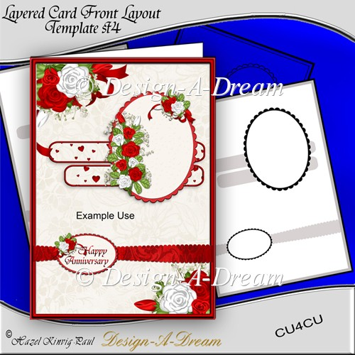 Layered Card Front Layout Template #4