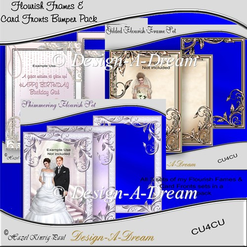 Flourish Frames & Card Fronts Bumper Pack