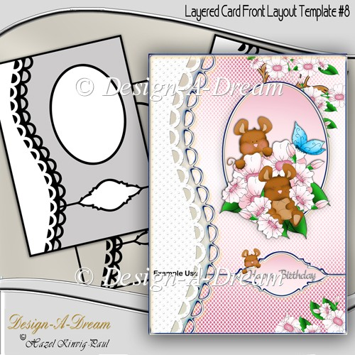 Layered Card Front Layout Template #8
