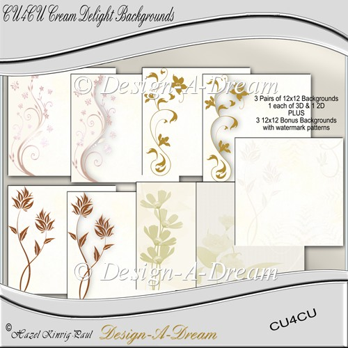 Cream Delight Backgrounds / Pages