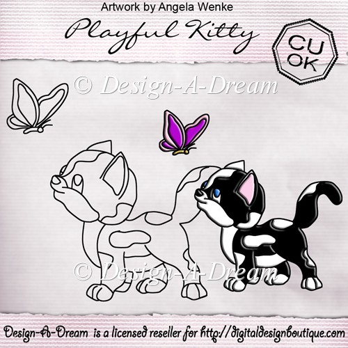 Playful Kitty Digi Stamp