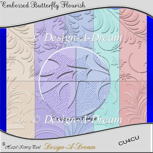 Embossed Butterfly Flourish Backgrounds