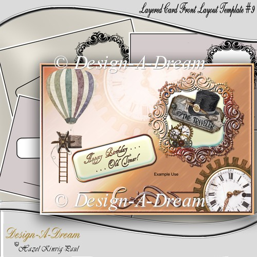 Layered Card Front Layout Template #9