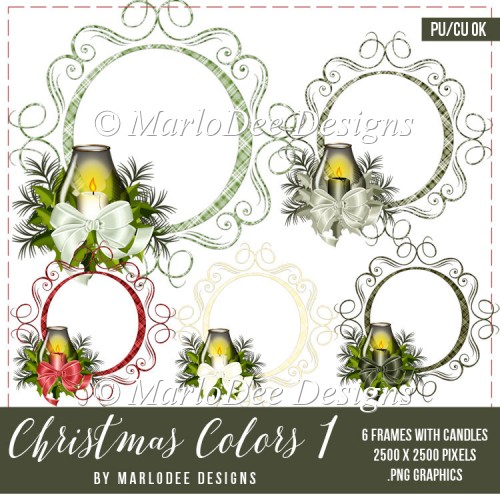 Christmas Plaid Frames with Candles | Christmas Colors 1 - Click Image to Close