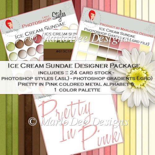 Ice Cream Sundae Color Palette & Designer Kit