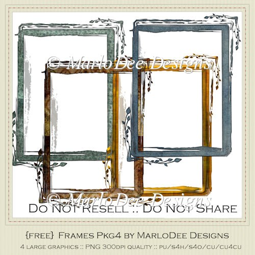 {Free} Textured Looking Frames by MarloDee Designs