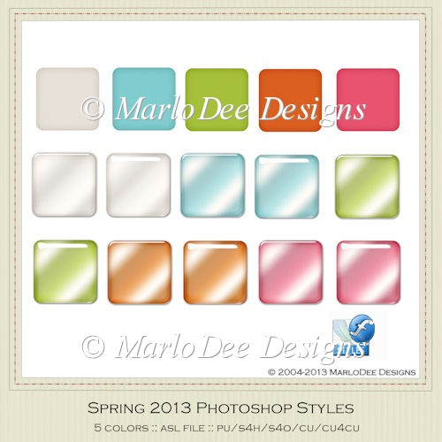 Spring 2013 Photoshop Styles {.asl file}