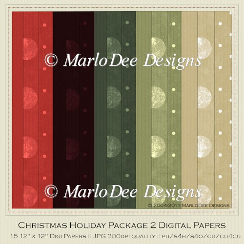 Christmas Holiday Package 2 Digital Papers