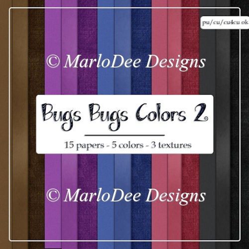 Bugs Bugs 2 Card Stock Digital Papers Package