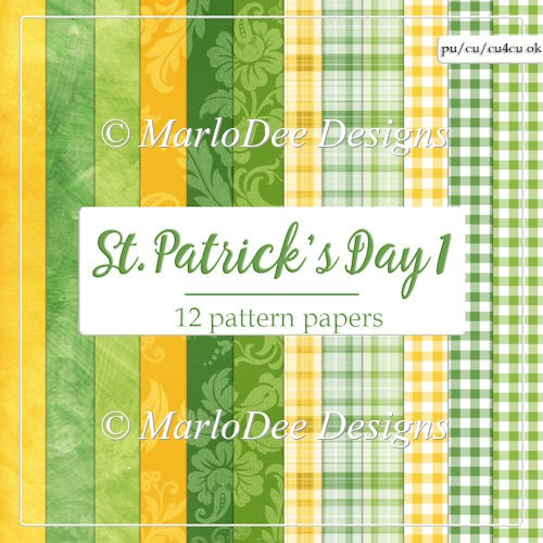 St. Patrick's Day Colors 1 - Pattern Papers 3