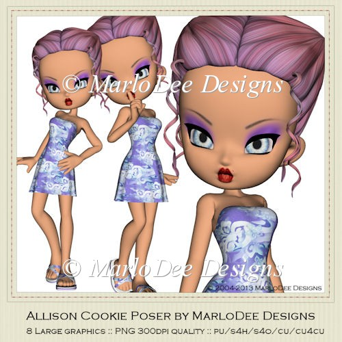 Allison Cookie Poser Graphics by MarloDee Designs - Click Image to Close